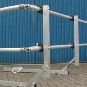 ASC - Aluminium dakrandbeveiliging / 24 meter lengte geheel kompleet