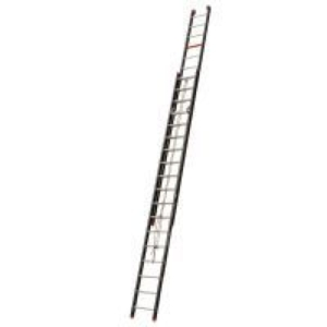 Aluminium ladder 2x22 (catrol) werkhoogte 11 meter