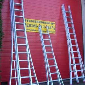 Aluminium ladder 3x18 (reform) werkhoogte 12 meter