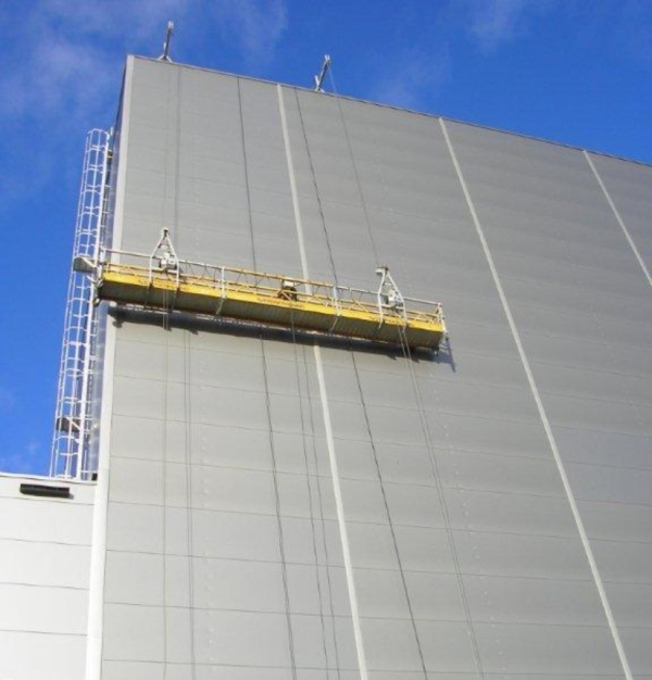 Electrische hangbruginstallaties 220V Installatie 6 mtr. met 2 stuks verrolbare dakliggers